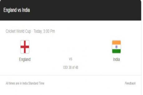 ICC World Cup: হাইভল্টেজ মেচত আজি ভাৰত-ইংলেণ্ড